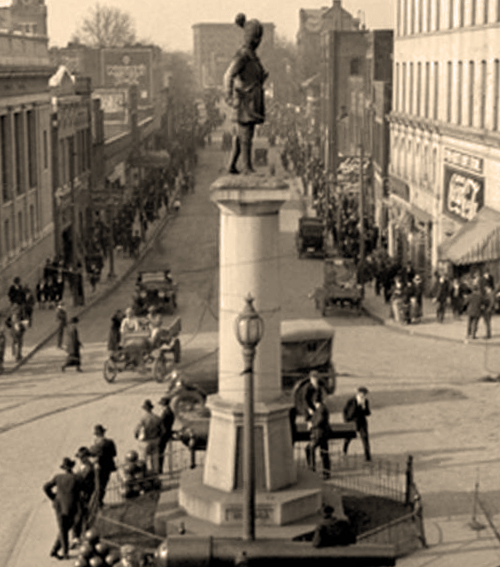 Daniel Morgan Monument - Downtown Spartanburg - 1920's era image