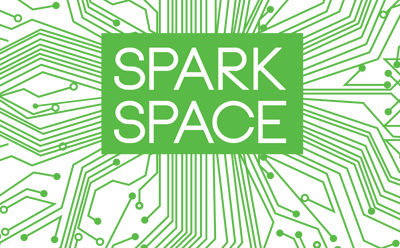 Spark Space logo - SCPL makerspace